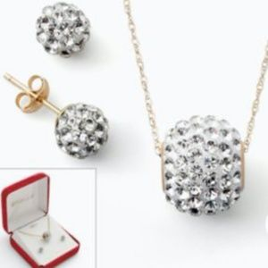 """""""Gold n' Ice"""" Swarovski Necklace and Earring Set"""